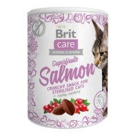 Brit Care: лакомство Superfruits Salmon steril с лососем, 100 г д/стерил.кошек