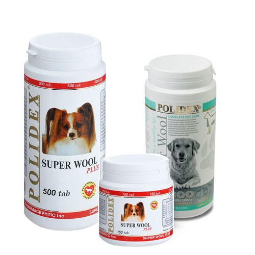 POLIDEX® Super Wool plus - Для Улучшения Состояния Шерсти и Кожи для собак